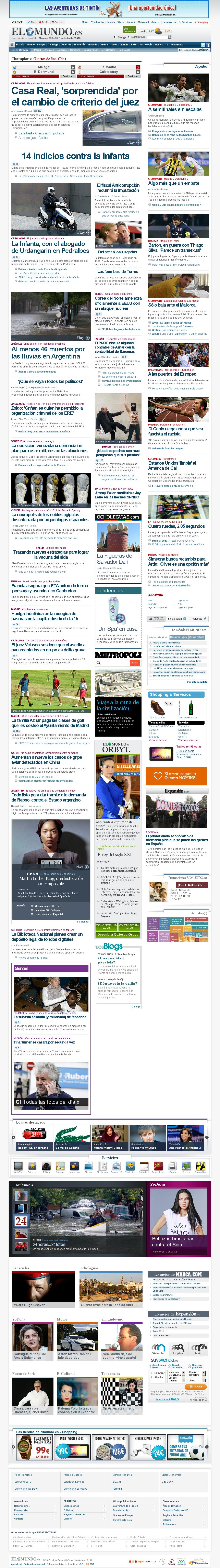 El Mundo at Wednesday April 3, 2013, 9:12 p.m. UTC