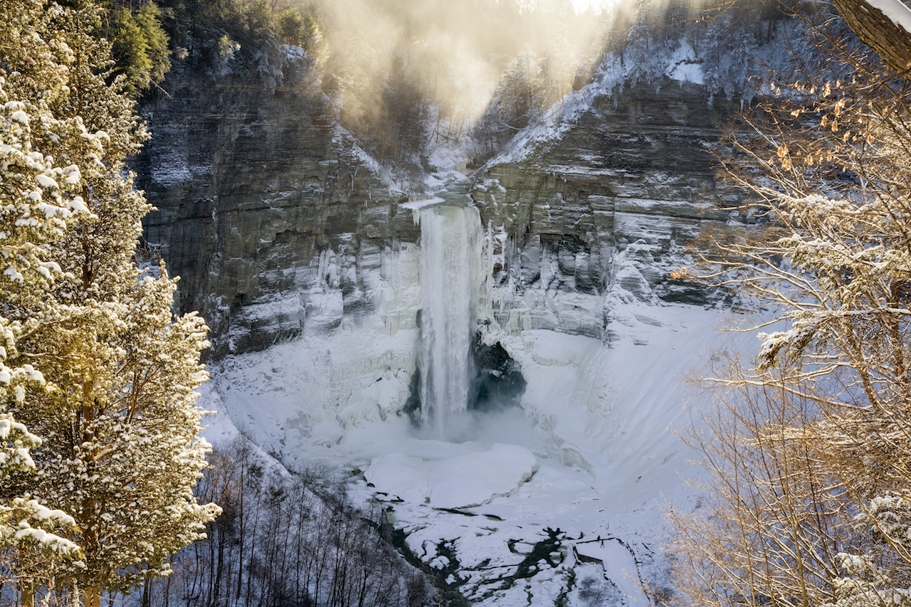 Frozen Taughannock after the storm (photo)