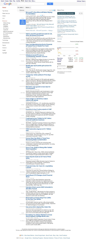 Google News: Business at Monday Sept. 15, 2014, 3:08 p.m. UTC