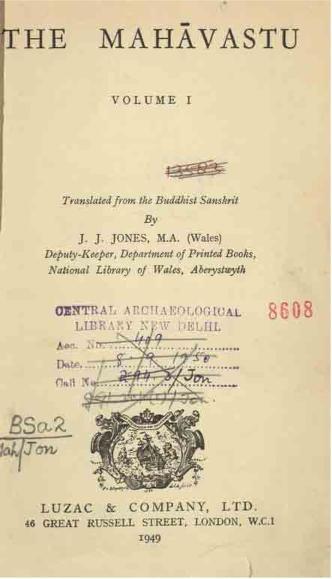 Mahavastu Vol 1 Jones J J Free Download Borrow And Streaming Internet Archive